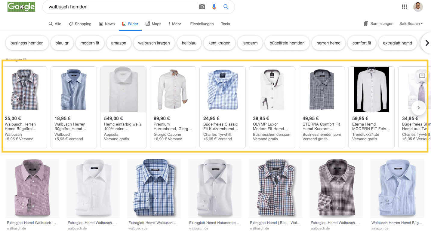 Google Shopping Image Search