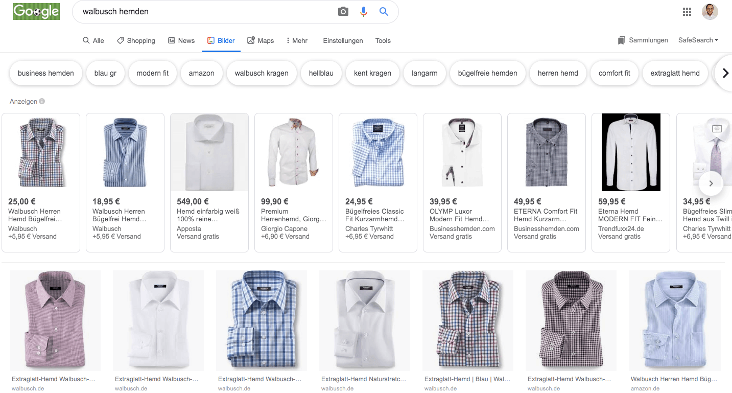 Google Shopping on Image Search